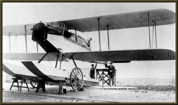 [First sealing operations, plane being fitted with skis]
